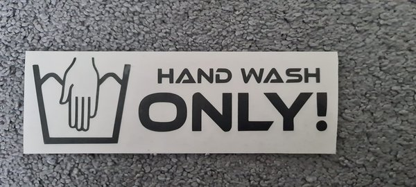 Hand Wash Only Sticker 16,5 cm x 5,9 cm
